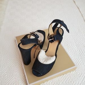 Navy blue andals